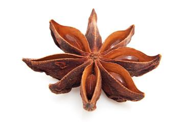 whole star anise in closeup