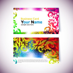 Colorful Gift or Business Card Template - front and back side