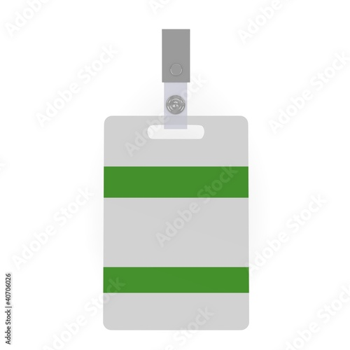 3d render of ID badge