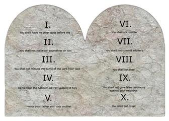 3d render of ten commandments
