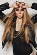 Beautiful portrait of rock woman model
