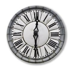 Horloge ancienne, fond blanc