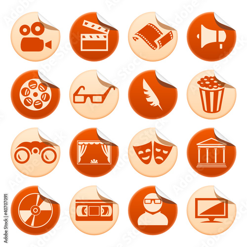 Cinema and theatre stickers