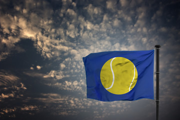 Tennis Flagge