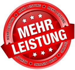 """Button Banner """"Mehr Leistung"""" rot"""
