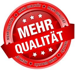"""Button Banner """"Mehr Qualität"""" rot"""