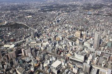 Chiba Japan, aerial view