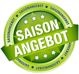 "Button Banner ""Saisonangebot"" grün"