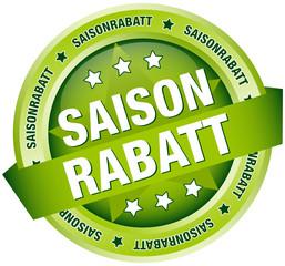 """Button Banner """"Saisonrabatt"""" grün"""