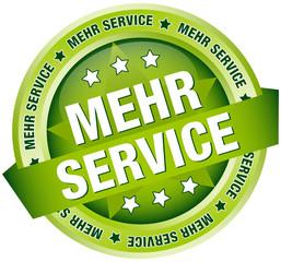 """Button Banner """"Mehr Service"""" grün"""