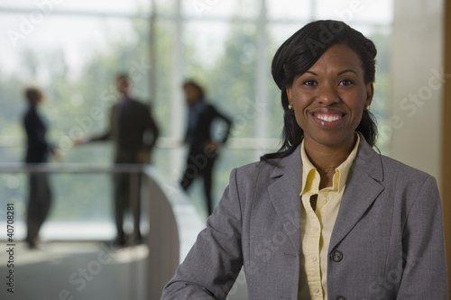 Portrait of an Hispanic businesswoman smiling