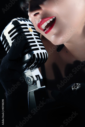 fashionable singer - ragazza cantante