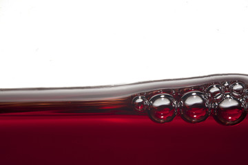 Wine´s red bubbles