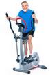 senior man exercising on stepper