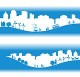 ville écologique bannière bleue