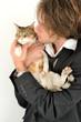 Portrait - Jeune-homme au chat