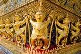 Golden Garuda in Wat Prakaew in Thailand