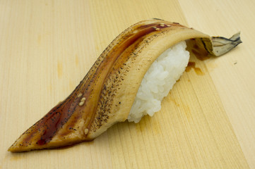 Japanese sushi anago, traditional japanese food