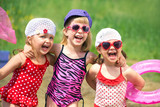 Fototapety Cute children in summer