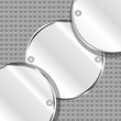 Abstract background with round metal plates