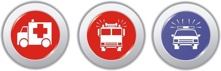 boutons véhicules d'urgences