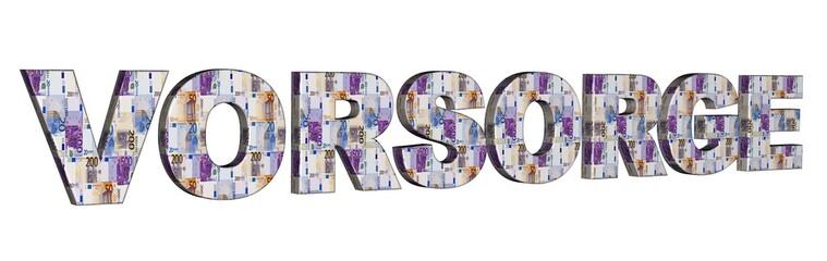 3D Geldschrift - VORSORGE