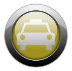 "Yellow Metallic Orb Button ""Taxi Cab"""