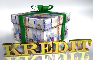 3D Geldgeschenk weiss - KREDIT
