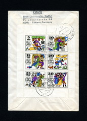 Canceled german stamps