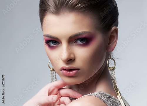 Sexiness. Portrait of beautiful young female - beauty model