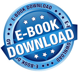 "Button Banner ""E-Book Download"" Blue"