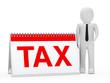 businessman tax calendar