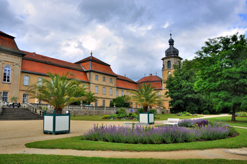 Nature of summer park of Schloss Fasanarie in Fulda, Hessen, Ger