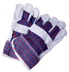 Heat resistant gloves for welding of plastic pipes, isolated