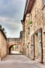 oude steegje in Toscane