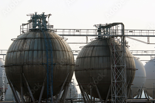 detail of storage tang for petrol in refinery