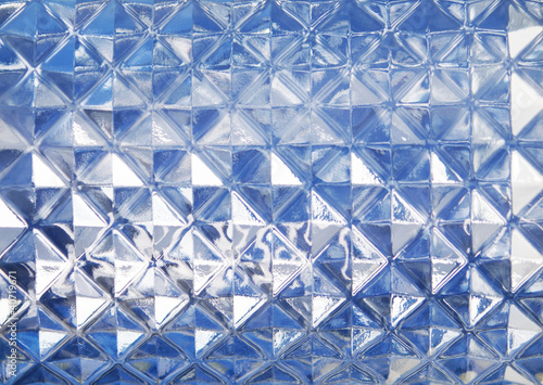 Blue glass texture