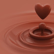 Background as a chocolate heart like drop