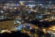 Aerial view of San Antonio, Texas at night