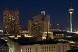 Fototapety Aerial view of San Antonio, Texas at night