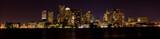 View ofthe skyline of Boston Massachusetts at night. - Fine Art prints