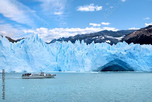 In de dag Gletsjers Glaciar Perito Moreno Patagonia Argentina