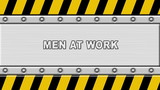 Under construction panel background (men at work)
