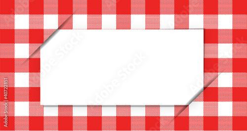 Tiquette pour recette de cuisine ou autre sur vichy fichier vectoriel libre de droits sur la - Cours de cuisine vichy ...