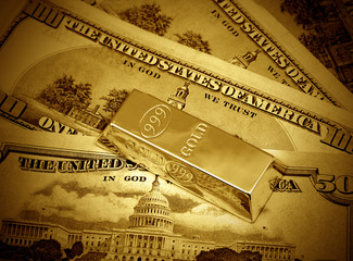Money and gold bullion
