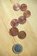 Fragezeichen aus Geldstücken