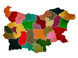 map of Bulgaria country