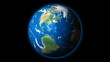 HD  - Planet Earth rotates on Black Background