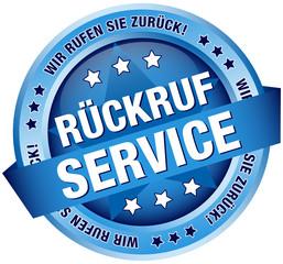 "Button Banner ""Rückruf Service"" blau"