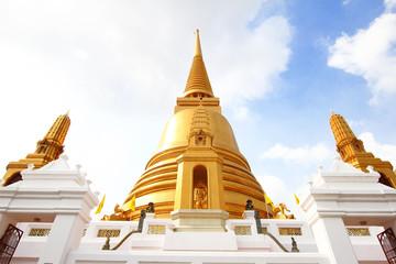 Gold pagoda at Baworn temple, Thailand.